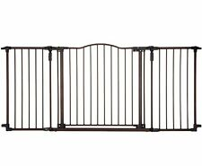 Baby Safety Gate Door Extra Wide Metal Walk Thru Pet Dog Cat Fence Child Toddler