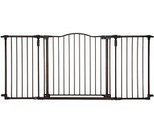 Baby Safety Gate Door Extra Wide Metal Walk Thru Pet Dog Cat Fence Child Toddler