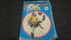 Wonderful World of Soccer Stars World Cup 1974 STICKER Book FKS NOT Complete