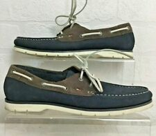 Tommy Hilfiger Cain Mens Leather Deck Boat Shoes Navy Brown USED UK 7 V45