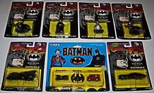 Batman Returns w/Catwoman,Penguin Die-Cast Metal Batmobile Assortment Lot