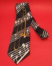 Trombone Design Men's Tie Music Teacher Brass Band Musician Xmas Music Gift NEW