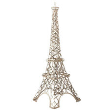 Large Metal Paris France Eiffel Statue Tower Stand, 59-Inch, Gold