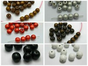 """100pcs 12mm(1/2"""") Round Wood Beads~Wooden Beads Jewelry making Color Choice"""