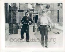 Comic Actor Charlie Chaplin in Easy Street Press Photo