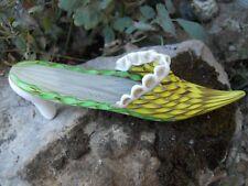 Rare ancienne chaussure sabot en Murano verre soufflé main