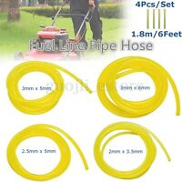 4Pcs 1.8m Rubber Smooth Fuel Gas Tube Petrol Diesel Oil Line Hose for Blowers