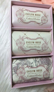 crabtree evelyn evelyn rose soap set