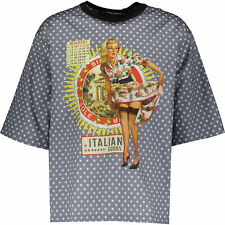 DOLCE GABBANA Pin Up Girl T-Shirt, IT 48 / UK 38 ( fits IT 52 / UK 42) RRP £275