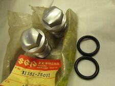 Suzuki RM100 TS90 TC90 TS185 TC185  nos fork bolt set 51351-25011