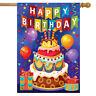 "Birthday Celebration House Flag Balloons Birthday Cake 28"" x 40"" Briarwood Lane"