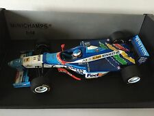 Jean Alesi Hand Signed Benetton B197 Renault 1997 Minichamps 1:18 Diecast Model.