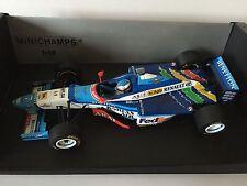 Jean Alesi Hand Signed Benetton B197 Renault 1997 Minichamps 1:18 Diecast Model.