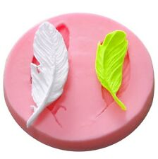 New 3D Feather Silicone Mould Fondant Cup Cake Clay Sugar Mold Decorating Tool