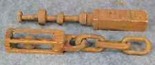 whimsy carved wood puzzle chain & ball hand made folk art antique original