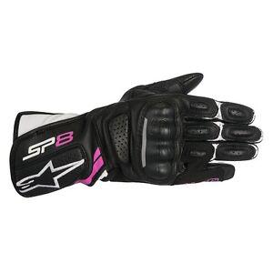 Alpinestars Stella SP-8 SP8 V2 Fusia Women ladies Gloves Black Motorcycle gloves