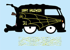 Hot wheels 1/64 White Toner Water Slide Decals Kool Kombi Halloween Metalic Gold