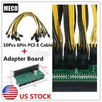 US DPS-1200FB Power Supply Adapter Board 10 6+2P PCI-E Cable For Ethereum Mining