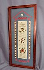 Wood Framed BLESS THIS HOUSE COUNTRY PICTURE by HOME INTERIORS 21''x 9'' EUC