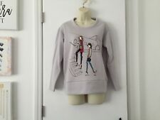 G by Giuliana Off Air Fleece Sweatshirt Airplane Fashion Girls Grey XXS XX-Small