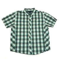 prAna Mens Snap Button Shirt Size XL Extra Large MINT Plaid ORGANIC COTTON