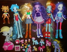 LOT My Little Pony EQUESTRIA Girl Toy Doll Brushable Hair MINI Ponyville Pop MLP