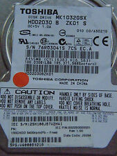 100 GB Toshiba MK1032GSX - HDD2D30 B  ZK01 S / C0/AS021G - G5B00135 disco rigido