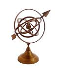 Antique Handmade Brass Armillary Sphere with Sundial Arrow