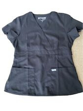 Grey's Anatomy Womens Scrub Top Size Medium Black