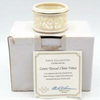 Lenox Pierced China Votive Candle Holder 24kt Gold Trim w/ Certification 762484