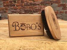 BOBOS BEARD COMPANY NATUREL POILS DE SANGLIER BARBE BROSSE MANCHE BOIS
