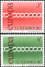 Luxembourg 1971 Europa/CEPT/Chain/Animation 2v set (lu10165)