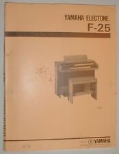 Yamaha Electone F-25 F25 Organ Service Repair Manual Parts List FREE SHIPPING!