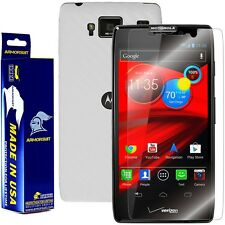 ArmorSuit MilitaryShield Motorola Droid Razr Maxx HD Screen + White Carbon Fiber