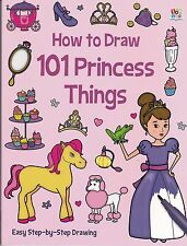 How to Draw 101 Princess Things by Nat Lambert  New Paperback Book