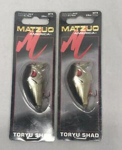 Lot of 2 - MATZUO America  Toryu Shad 258 Chrome Black Orange Belly 3.8oz