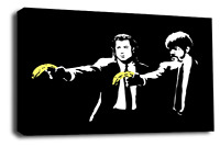 Banksy Canvas Wall Art Picture Print Graffiti Pulp Fiction Banana Love Peace