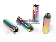 NRG Aluminum Extended Open Ended Wheel Tuner Lug Nut Locks Neo Chrome 12x1.5mm