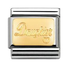 NEW BOXED 18K GOLD DAUGHTER 030121/25 NOMINATION ITALIAN CLASSIC CHARM  rrp £20