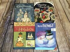 Lot of 4 Tole Decorative Painting Holiday and Other Themes Art Instruction Bookl