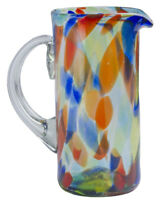 Orion Mexican Glassware Solid Confetti 56 oz Margarita Pitcher
