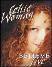 CELTIC WOMAN - BELIEVE : LIVE DVD ~ IRISH CLASSICS / POP ~ REGION 4 PAL *NEW*