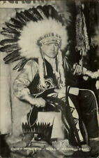 Wells ME Maine Natiove American Indian Chief Tomekin Real Photo Postcard