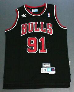 Retro Dennis Rodman #91 Chicago Bulls Basketball Jersey Stitched Black S-XXL