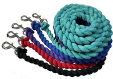 Lead Rope Horse Pony Dog Sheep Goat N.P Solid Snap Soft Twisted Soft Cotton