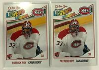 2 Card Lot 2010-11 Patrick Roy O-Pee-Chee #594 Montreal Canadiens Marquee Legend