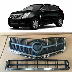 Front Upper Lower Grille  for 2010 2011 2012 Cadillac SRX Chrome 25778321