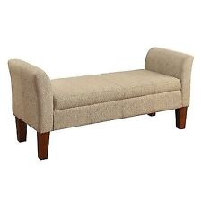 Nice Storage Ottoman Bench In A Woven Tan Fabric By Coaster 500076