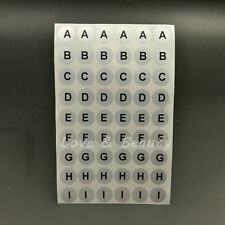 Waterproof 468 Alphabet Letters Stickers Label Black Letters Silver Round A TO Z