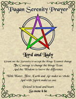 Pagan Serenity Prayer Wicca Witch New Age Pentagram Spirit Celtic Magic Goth